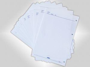 ورق یدک کلاسور 4 حلقه خطی چاپی 70 گرم